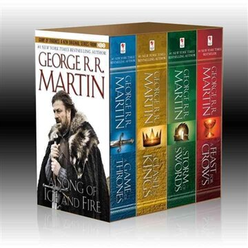 George R. R. Martin&#39;s A Game Of Thrones 4-book Boxed Set: A Game Of Thrones, A Clash Of Kings, A Storm Of Swords, And A Feast For Crows