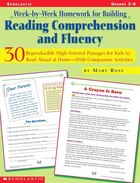 Week-by-week Homework For Building Reading Comprehension And Fluency: 30 Reproducible High-Interest Reading for Kids to Read Aloud at Home-With Compan