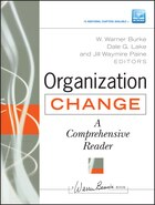 Organization Change: A Comprehensive Reader