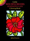 Little Wildflowers Stained Glass Coloring Book