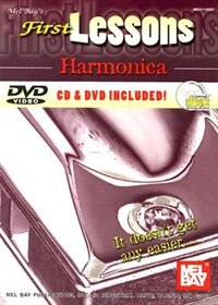 First Lessons Harmonica  Book/CD/DVD Set