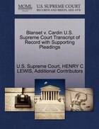 Blanset V. Cardin U.s. Supreme Court Transcript Of Record With Supporting Pleadings