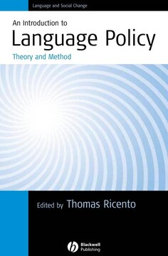 An Introduction to Language Policy: Theory and Method