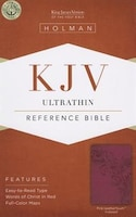 KJV ULTRATHIN REFERENCE BIBLE, PINKLEATHERTOUCH INDEXED