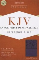 KJV LARGE PRINT PERSONAL SIZE REFERENCE BIBLE, PURPLE LEATHERTOUCH IND
