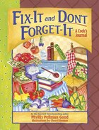 Fix-It and Don't Forget-It Journal: A Cook's Journal