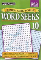 PUZZLERAES JUMBO BK OF WORD SEEKS NUM10
