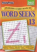 PUZZLERS JUMBO BK OF WORD SEEKS NUM13