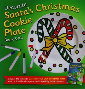 DECORATE YOUR OWN SANTA COOKIE PLATE