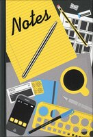 Notes Journal: Embedded Pen, 144 Lined Pages, Expandable Inner Pocket
