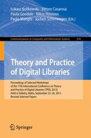 Theory and Practice of Digital Libraries: Selected Workshops of the International Conference, TPDL 2013, Held in Valletta, Malta, September 2