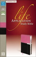 NIV, Life Application Study Bible, Personal Size, Imitation Leather, Pink/Brown: Italian Duo-Tone Orchid/Chocola