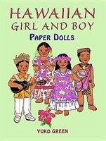 Hawaiian Girl And Boy Paper Dolls