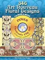 356 Art Nouveau Floral Designs CD-ROM and Book