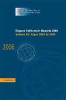 Dispute Settlement Reports 2006:  Volume 12, Pages 5085-5494
