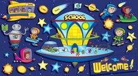 Space School Welcome Bulletin Board Set