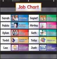 Pocket Chart Class Jobs (Black)