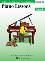 Piano Lessons Book 4 - Book With Online Audio: Hal Leonard Student Piano Library