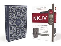 Nkjv, Thinline Bible, Compact, Cloth Over Board, Blue/green, Red Letter Edition