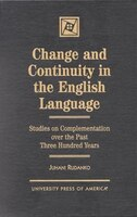 While earlier treatments of English verb syntax from a diachronic perspective exist, this book breaks entirely fresh ground with its focus on the detailed study of English predicate complementation over the past three centuries