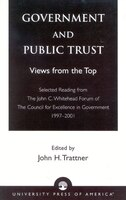 Government and Public Trust: Views from the Top