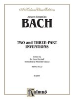 Two- And Three-part Inventions: Two-and Three-Part Inventions Piano Solos K03044