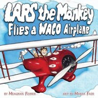 Lars the Monkey Flies a Waco Airplane