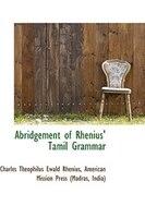 Abridgement of Rhenius Tamil Grammar