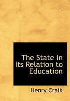 The State In Its Relation To Education