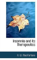 Insomnia And Its Therapeutics