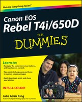 An easy-to-follow guide to Canon''s first touchscreen dSLRCanon calls the EOS Rebel T4i/650D its most consumer-friendly dSLR, but there''s still a lot to learn