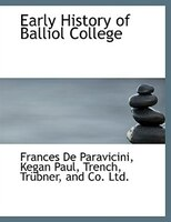 Early History of Balliol College