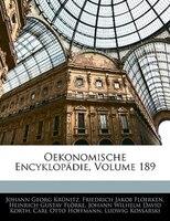 Oekonomische Encyklopädie, Hundert neun und achtzigster Theil