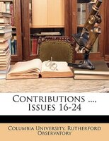 Contributions ..., Issues 16-24