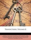 Transactions, Volume 65