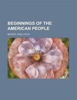 Beginnings Of The American People