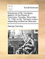 Substance Of Mr. Canning's Speech, In The House Of Commons, Tuesday, December 11, 1798, On Mr. Tierney's Motion, - George Canning