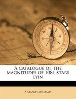 A Catalogue Of The Magnitudes Of 1081 Stars Lyin