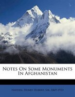 Notes On Some Monuments In Afghanistan