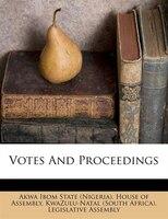 Votes And Proceedings