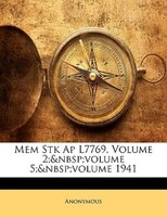 Mem Stk Ap L7769, Volume 2;volume 5;volume 1941