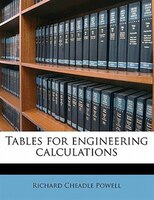 Tables For Engineering Calculations