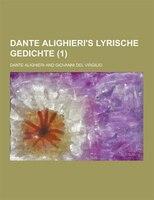 Dante Alighieri's Lyrische Gedichte (1)