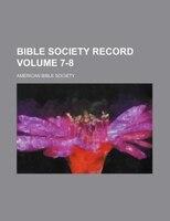 Bible Society record Volume 7-8