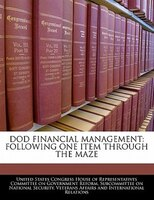 Dod Financial Management: Following One Item Through The Maze