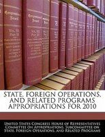 State, Foreign Operations, And Related Programs Appropriations For 2010