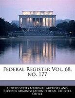 Federal Register Vol. 68, No. 177