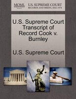 U.s. Supreme Court Transcript Of Record Cook V. Burnley