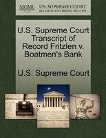 U.s. Supreme Court Transcript Of Record Fritzlen V. Boatmen's Bank