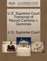 U.s. Supreme Court Transcript Of Record Cardona V. Quinones